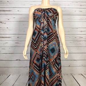 Band of gypsies strapless maxi dress size small